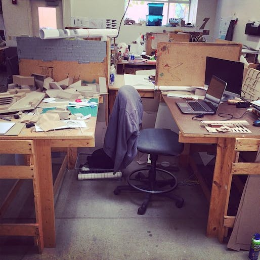 Woodbury University student design studio desk, 2014. Image courtesy of the author.