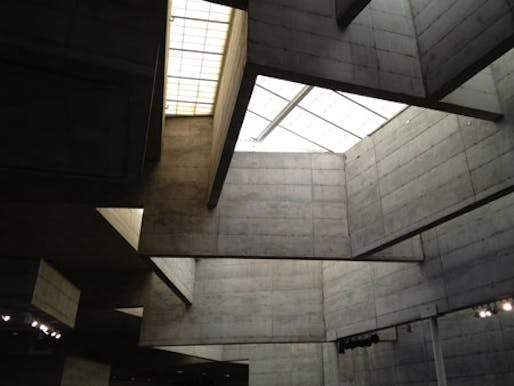 View of the atrium skylights. (Photo: Mary Brown, DOCOMOMO US/NOCA; via docomomo-us.org)