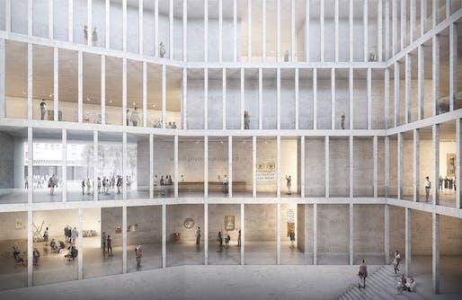 1st prize (competition winner): Kleihues + Kleihues Gesellschaft von Architekten mbH. Architects: Prof. Jan Kleihues, Johannes Kressner/ Berlin, Germany.