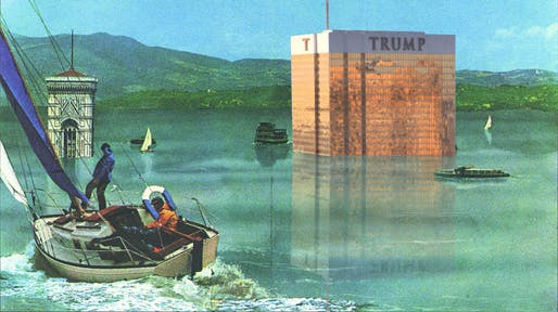 """Cleansing the Earth"" by Aly Perez, from the Good Walls Make Good Neighbors, Mr. Trump competition."