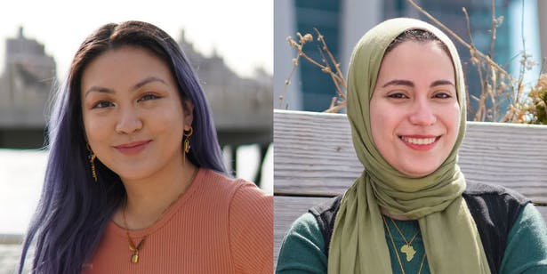 FXCollaborative Foundation inaugural CCNY Diversity Scholarship recipients Sidney Mauricio, class of 2025 (left) and Nada Elsayed, class of 2022 (right). courtesy of FXCollaborative