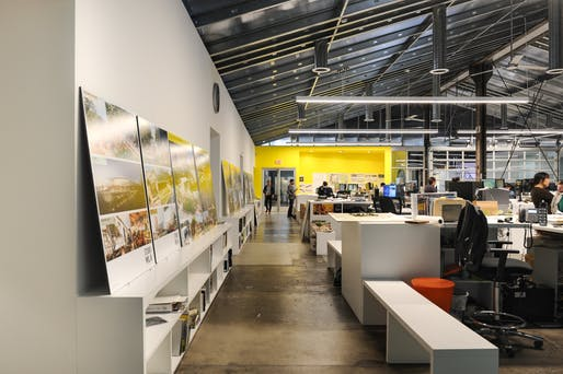 "Main workspace at <a href=""https://archinect.com/features/article/150186737/studio-visits-studio-mla"">Studio-MLA</a>. Photo by Amanda Ortland © Archinect. Photo was taken before COVID-19."