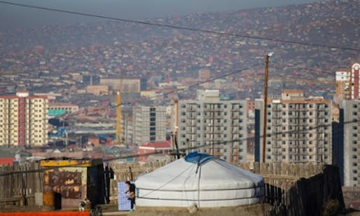 Ulaanbaatar is growing rapidly, and there are plans to build high-rise homes for those living in the ger districts. But many residents don't want to leave their traditional homes. (The Guardian)