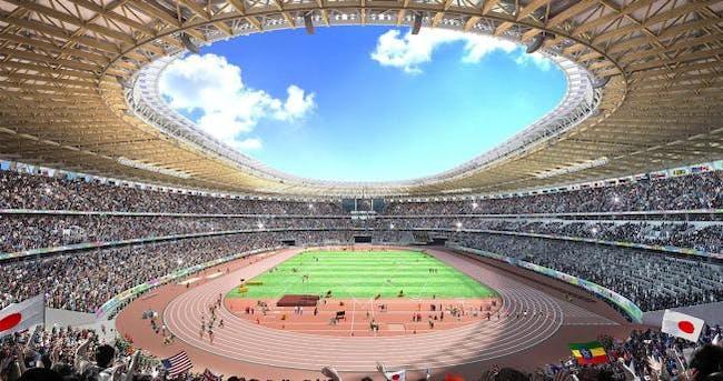 Kengo Kuma's winning proposal for the new 2020 Tokyo Olympic Stadium.