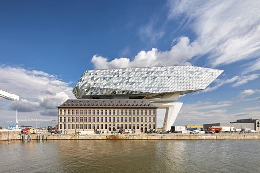 ​Overall Winner and Refurbishment category winner: Zaha Hadid Architects, Port House, Antwerp, Belgium. Photo: Hufton+Crow.