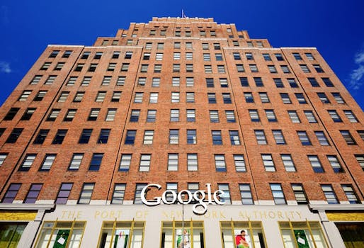 Google purchased this full-block office building in Chelsea—with nearly 3 million square feet (279,000 sq m) of space, conveniently sitting atop trunk fiber-optic lines—for $1.9 billion purchase in 2010. (istockphoto; via urbanland.uli.org))