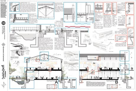 Construction/Section poster for factory refurbishment