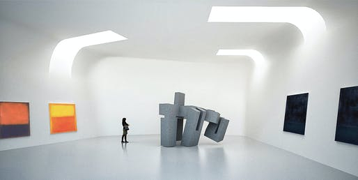Gallery. Courtesy of Steven Holl Architects, Compagnie de Phalsbourg and XO3D.