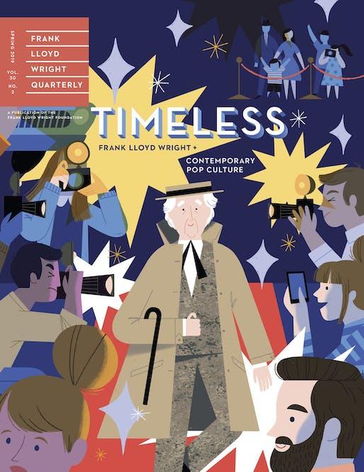 Frank Lloyd Wright Quarterly, Spring 2019 cover illustrated by Ellen Surrey.