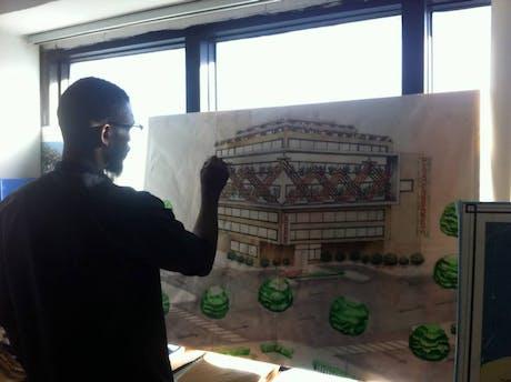 Clinic' concept development, handwork