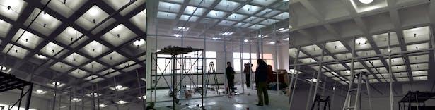 reception area in progress