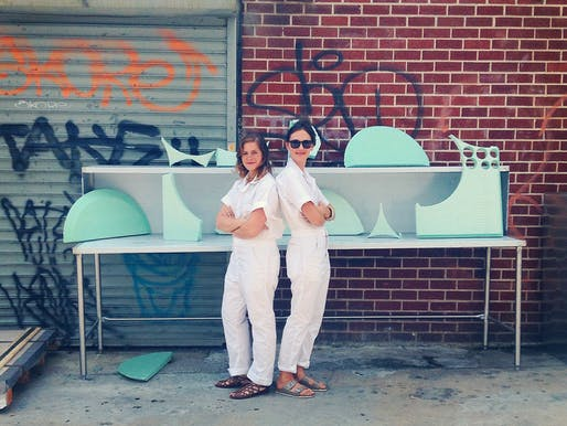 Designers Elisa Werbler and Lucy Knops established The Foam Agency as part of their summer residency at the Makeshift Society's newest location in Brooklyn, NY. Photo courtesy of The Foam Agency