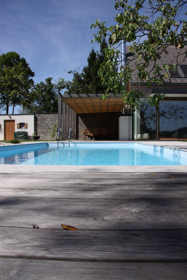 House A, pool & terrace