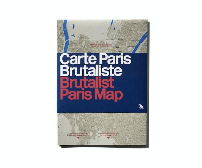 Brutalist Paris Map Cover.
