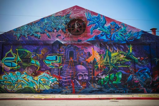 "One of the many murals in Downtown L.A.'s Arts District. Photo: Sean Davis/<a href=""https://www.flickr.com/photos/seandavis/9622709440""target=""_blank"">Flickr</a>."