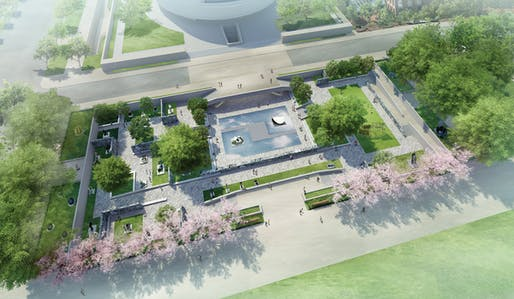View of the proposed garden renovations for the Hirshhorn Museum in Washington, D.C. Image courtesy of the Hirshhorn Museum.