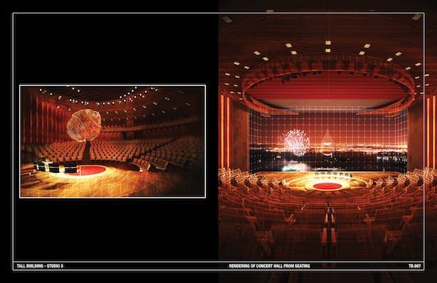 Rendering of Concert Hall