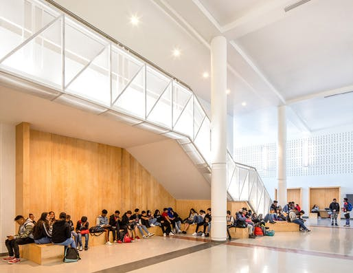 Southeast Raleigh Magnet High School Great Hall Renovation. Photo: Tzu Chen Photography.