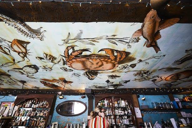 Chez Oskar- Illustrated Ceiling Installation