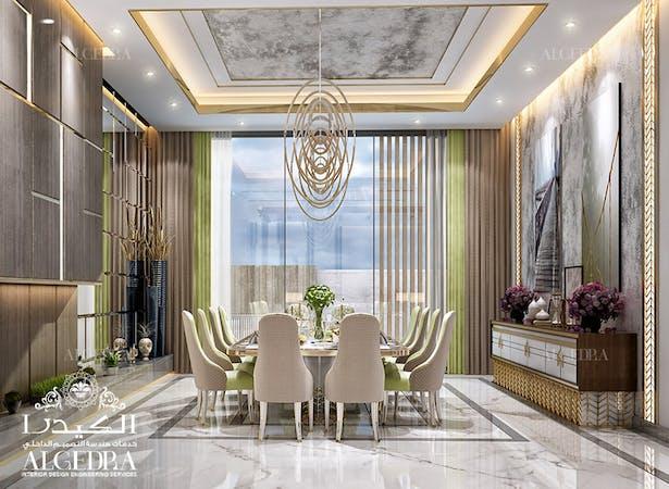 Modern Dining Room In Luxury Villa Algedra Design Archinect