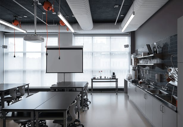 The science laboratory.