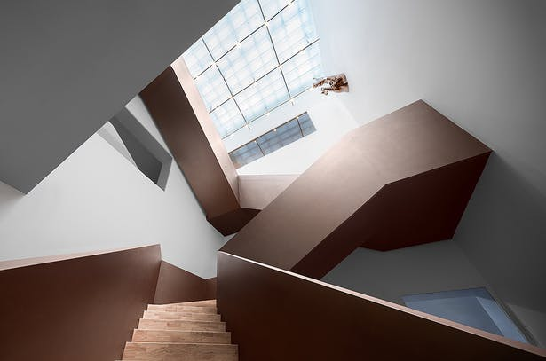The Grand Staircase Activates all Spaces,photo: Wu Qingshan