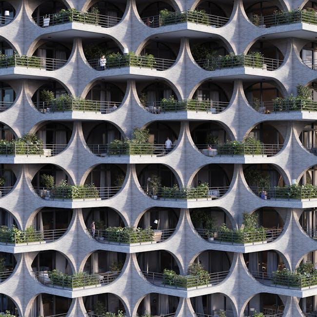 Tel Aviv Arcades rendering by Penda Austria. Image: Penda Austria.