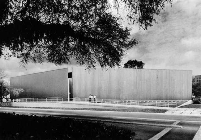 Exterior View of the Contemporary Arts Museum Houston, 1972