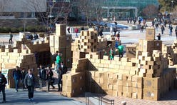 Architecture students compete to build largest cardboard structure