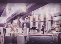 Glamorous Ballroom Interior Designing