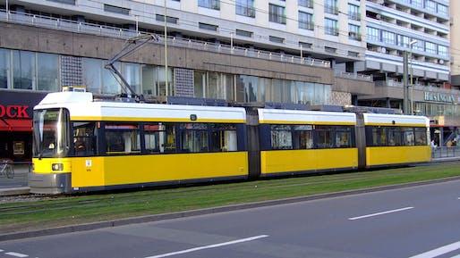 The M6 tram in Berlin as it appeared in 2007. Image courtesy Wikimedia Commons user AlfvanBeem.
