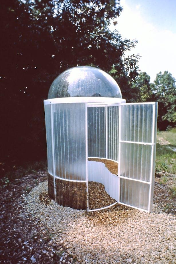 Solar heated sauna 1974.