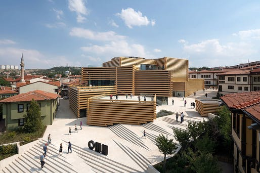"The newly opened Odunpazari Modern Museum (OMM) in Eskişehir, Turkey. Photo: <a href=""http://www.naaro.com/"">NAARO</a>."