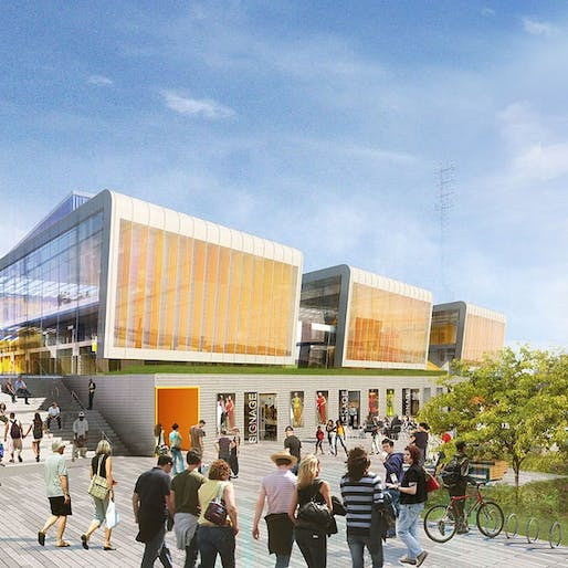 Rendering of the Empire Outlets. Image courtesy of SHoP Architects.