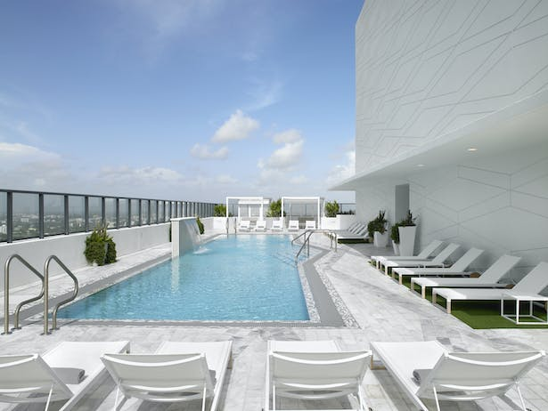 Pool on the 50th Floor, one of the highest in Miami