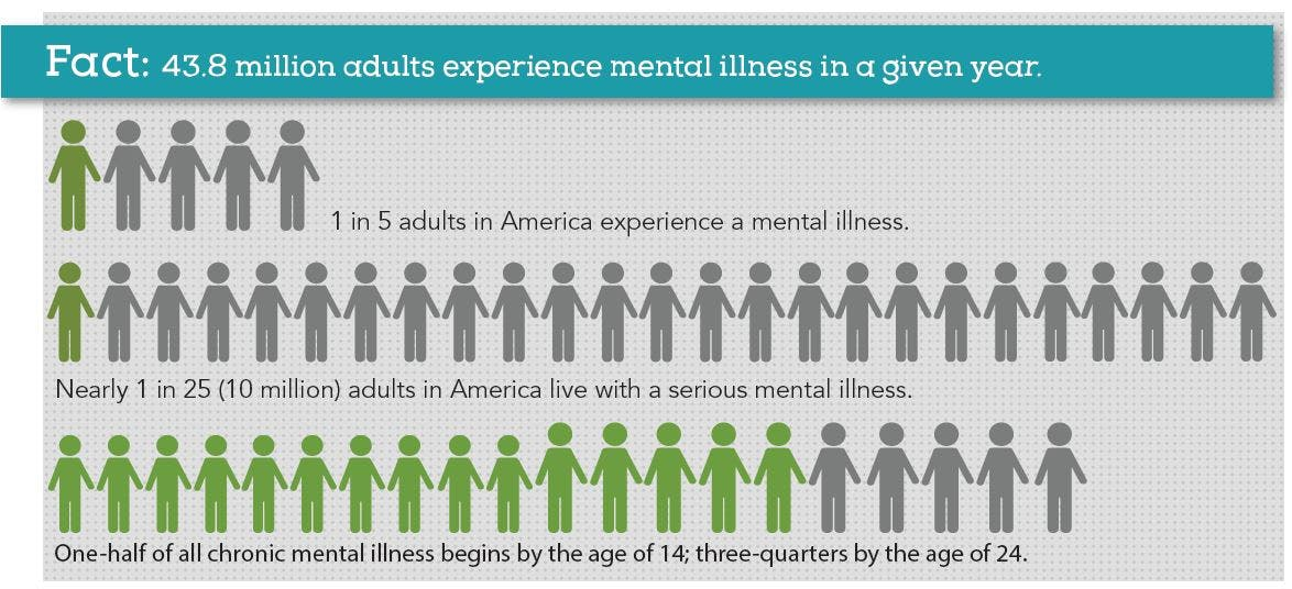 National Alliance on Mental Illness (NAMI), Mental Health By the Numbers Fact Sheet