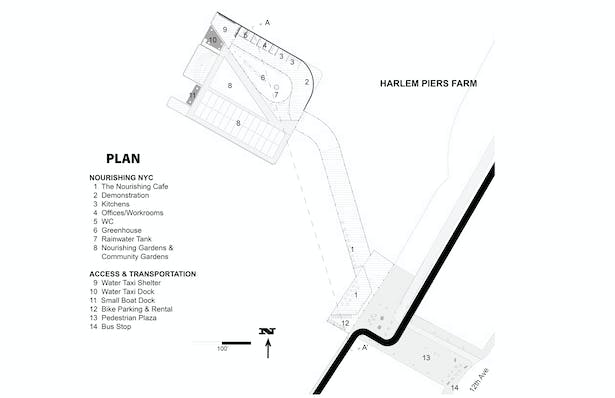 Harlem Piers Farm proposal Plan.