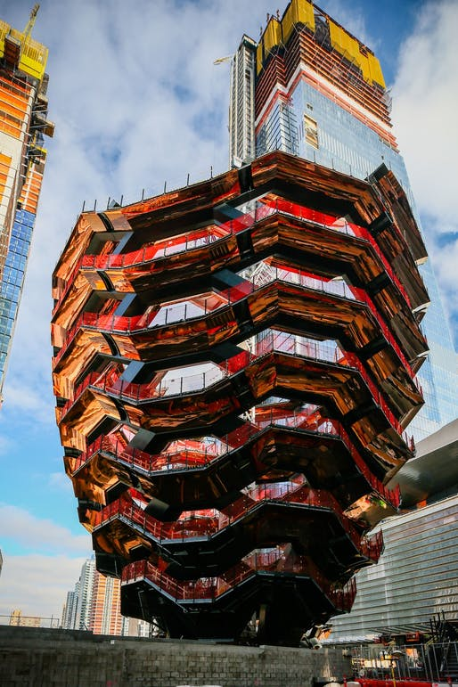 Heatherwick Studio's The Vessel at Hudson Yards. Image: Related Companies/Oxford Properties Group.