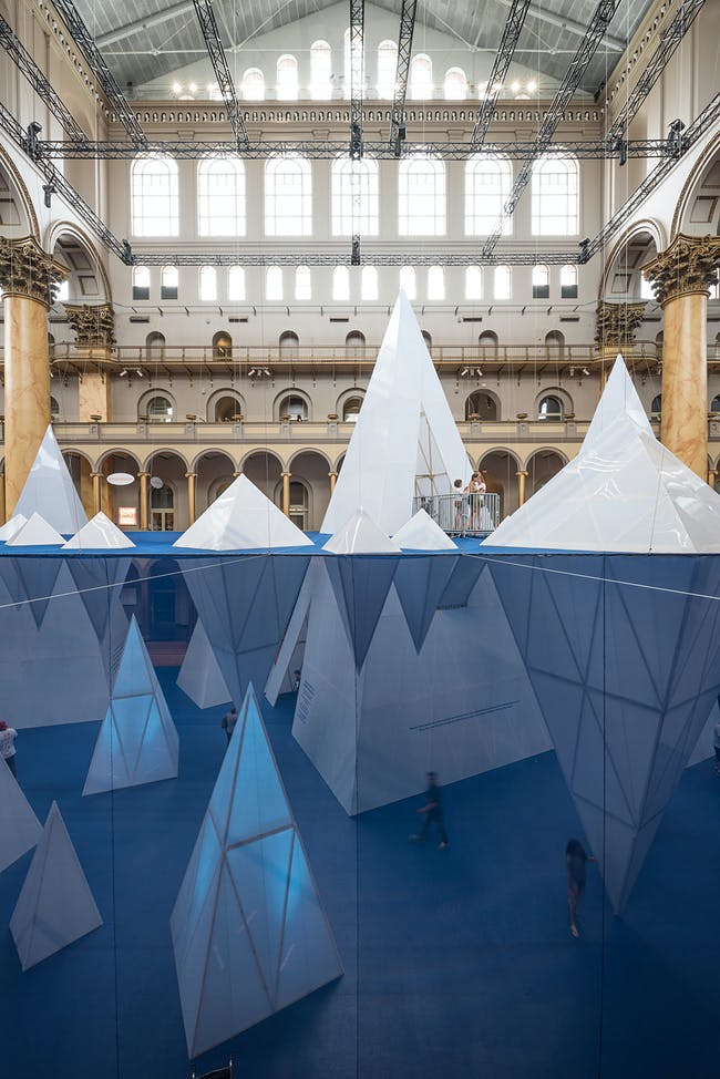 ICEBERGS at the National Building Museum, by James Corner Field Operations. Photo by Timothy Schenck.