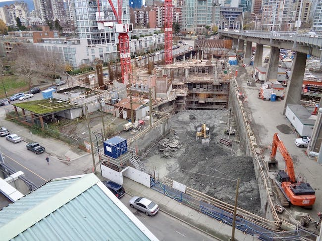 Photo of the Vancouver House construction site by Skyrise Cities forum member mcminsen. Click here to see more.