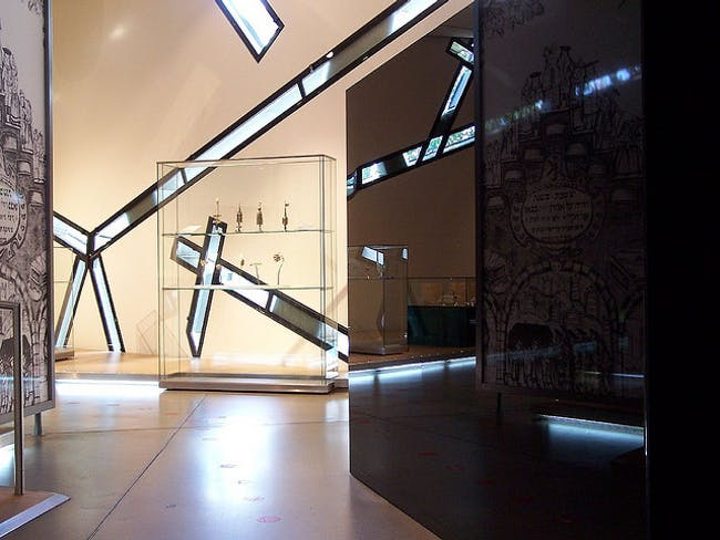 Gallery of the Missing at the Jewish Museum in Berlin. Image via flickr user dsa66503.