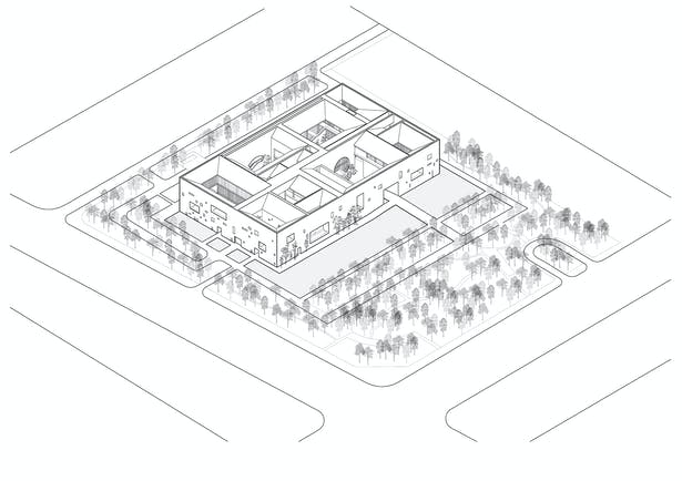 Axonometric drawing ©Studio Zhu-Pei