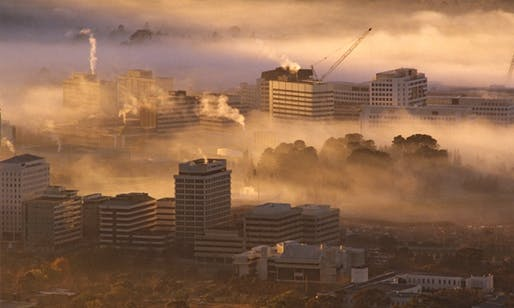 Canberra in the fog: Australia's capital has for the second year running topped the OECD's list of most liveable cities. (via theguardian.com; Photograph: Auscape/UIG/Getty Images)