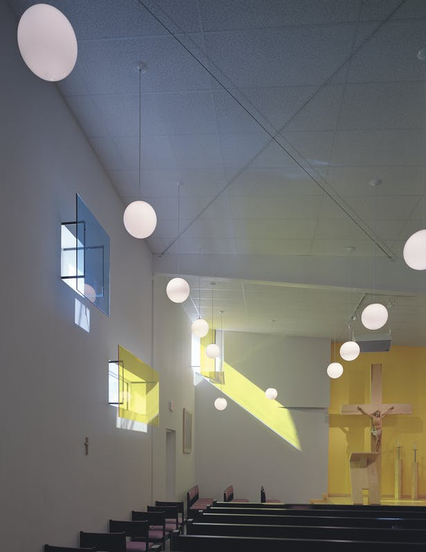 Interior view of sanctuary