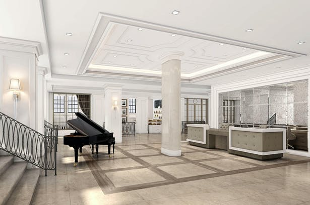 Rendering of the Lobby & Reception Area