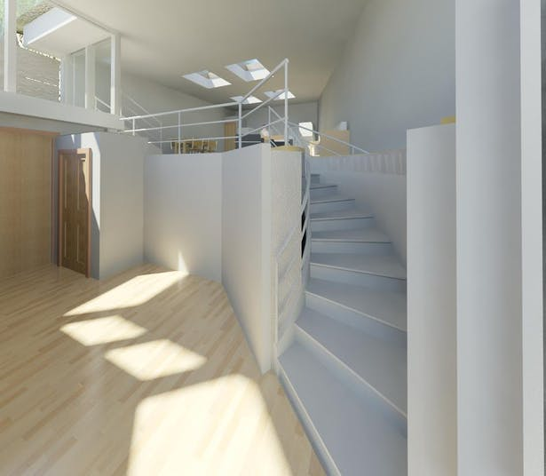 TERRAIN HOUSE 800 © Entrance level includes foyer, bedroom & bath