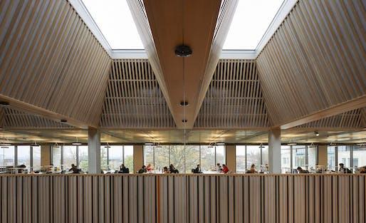 University of Roehampton Library; designed by Feilden Clegg Bradley Studios. Photo Credit: Hufton & Crow.