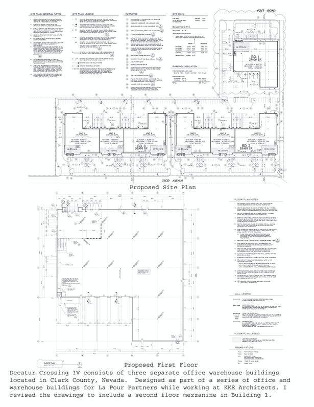 Site Plan and First Floor Plan