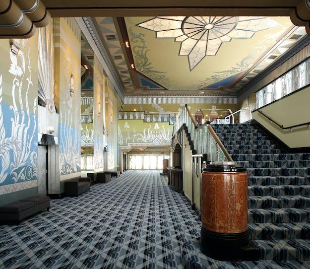 Spokane Fox Theater Art Deco Lobby
