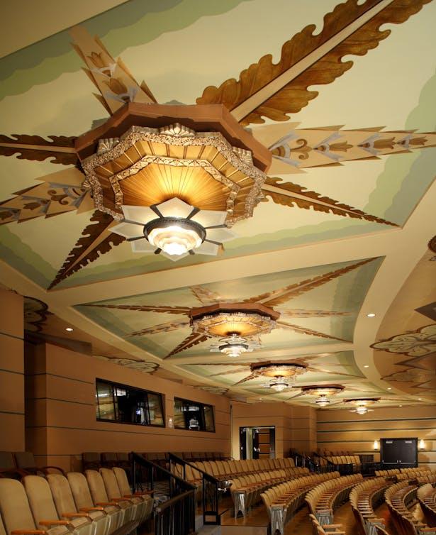 Spokane Fox Theater Art Deco Balcony Ceiling